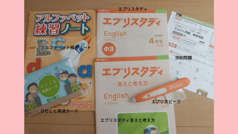 Z会小学生コースの英語専科の教材